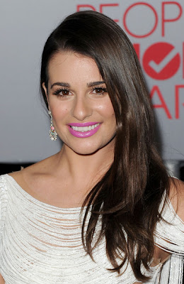 Lea Michele Side Sweep Hairstyle