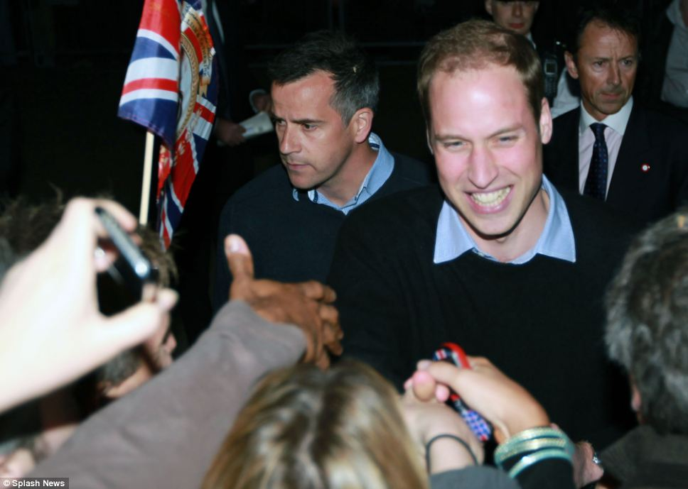 prince william and kate wedding_16. Prince William delighted