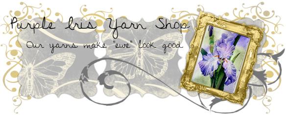 Purple Iris yarn shop