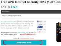 Free ! Antivirus AVG Internet Security 2015 dengan Lisensi (Serial Number) Legal