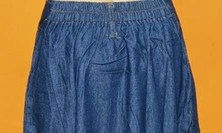 Rok Jeans Bawah Gelombang