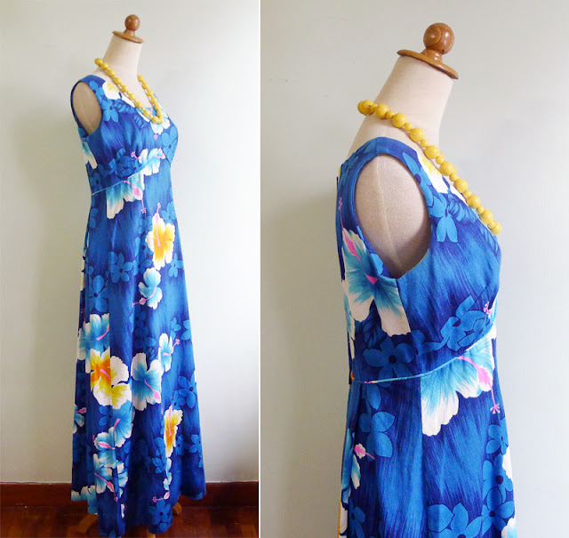 vintage tropical sun dress hawaii