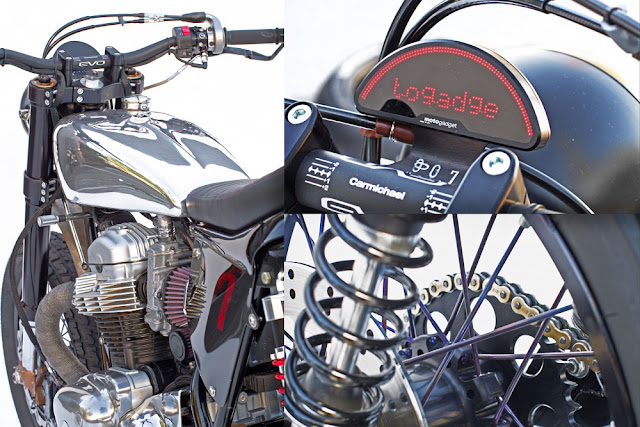 "Kawasaki W650 Street Tracker | Deus w650 street tracker price | Kawasaki W650 ""Sevenish"" by Deus | street tracker photos | Deus ex Machina"