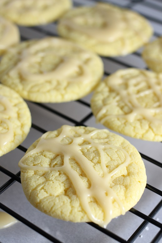 Lemon Cakebox Cookies with Honey Lemon Glaze