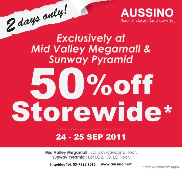 Aussino 2 Days Sales 24 September 25 September