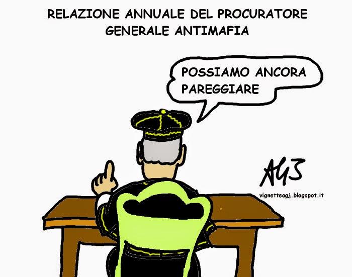 PG antimafia, mafia, anno giudiziario, satira , vignetta
