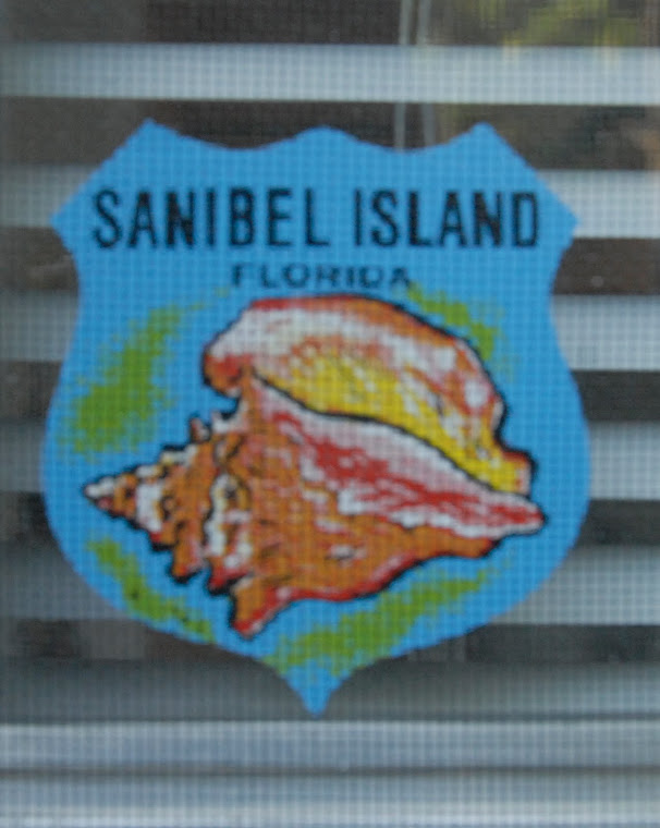 Vintage Sanibel sticker ft. door
