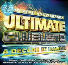 Capa do álbum Ultimate Clubland A Decade In Dance (2012)