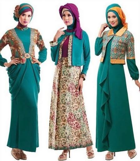 Model Dress Batik Muslim 21 model baju batik muslimah modern terbaru