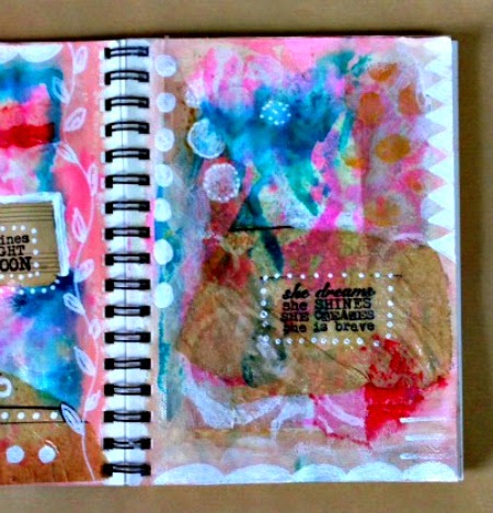 Red Lead Art Journal Page 2 by Kimberly Jones serendipityvintagestudio.blogspot.com