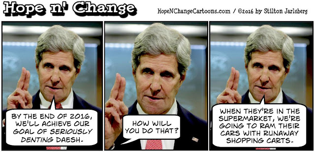 obama, obama jokes, political, humor, cartoon, conservative, hope n' change, hope and change, stilton jarlsberg, isis, isil, daesh, dent, 2016