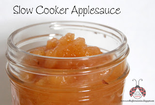 slow cooker applesauce in jar close up