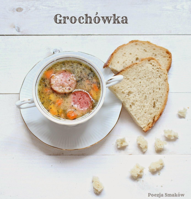 Tradycyjna zupa grochowa z grochu łuskanego - grochówka.