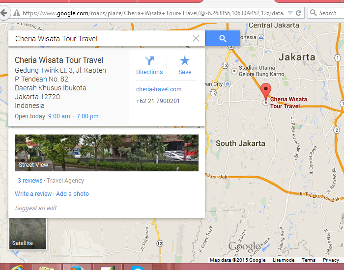 https://www.google.com/maps/place/Cheria+Wisata+Tour+Travel/@-6.268856,106.809452,12z/data=!4m2!3m1!1s0x0:0xac9a376eb6cda42a?hl=en-US