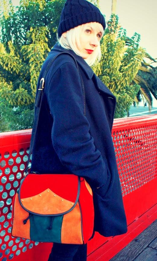 bolso vintage colorido