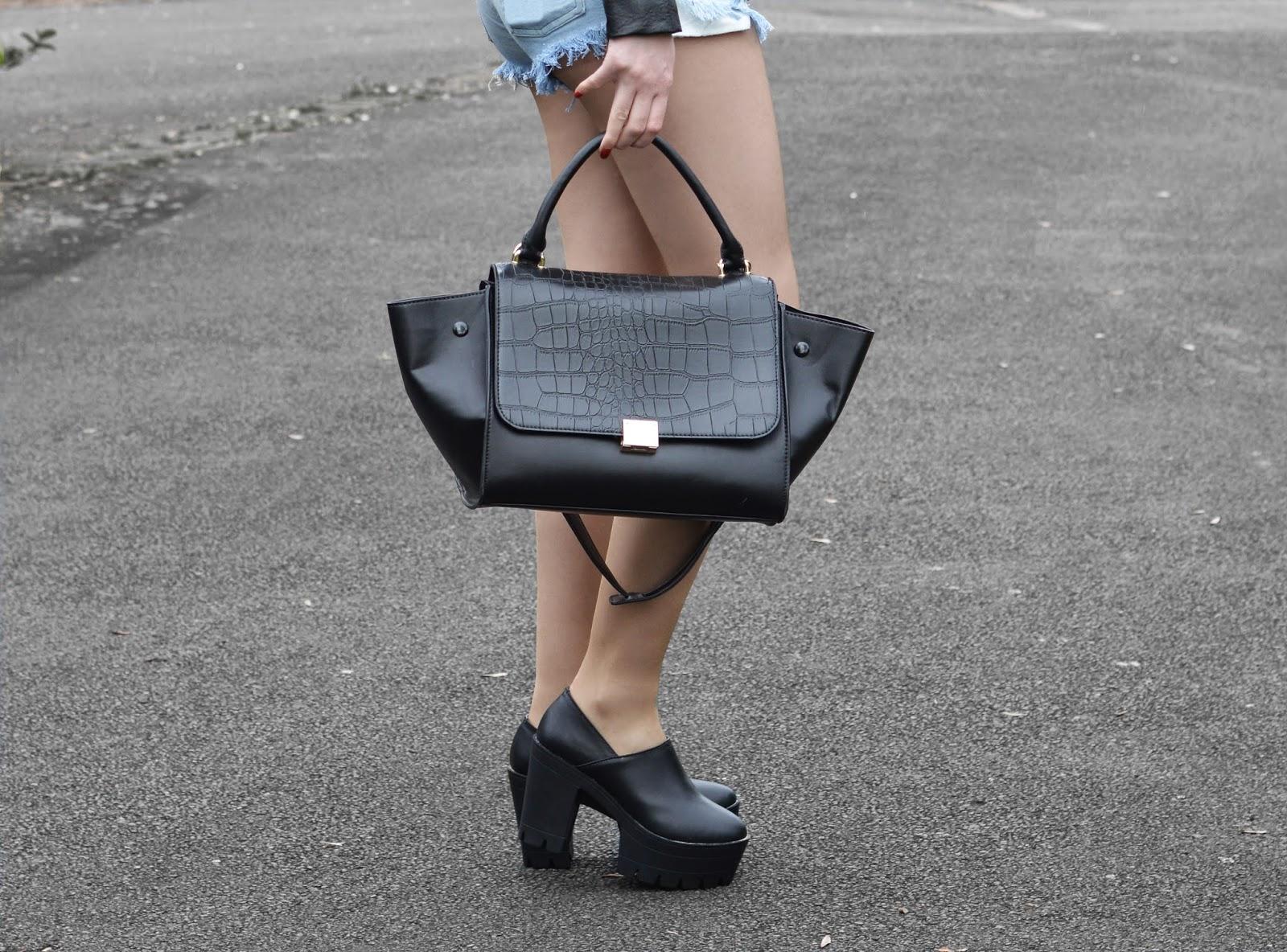 Sammi Jackson - Caged Leather & Studded Denim