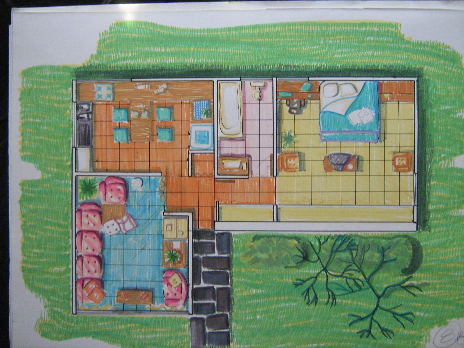 Mi portafolio de arquitectura usac plantas arquitect nicas for Plantas arquitectonicas de casas
