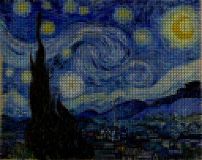 Digital Kristik  Lukisan Starry Night  Karya Vincent van Gogh  (Belanda)