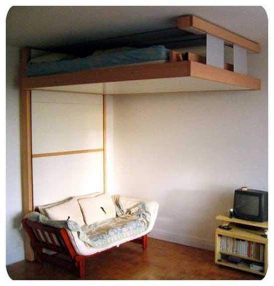 tempat tidur unik di rumah rumah saya