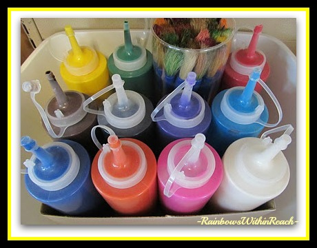 photo of: Art Room Paint Storage (Art Room RoundUP via RainbowsWithinReach)