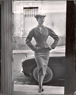 Bettina Ballard photographed in Paris