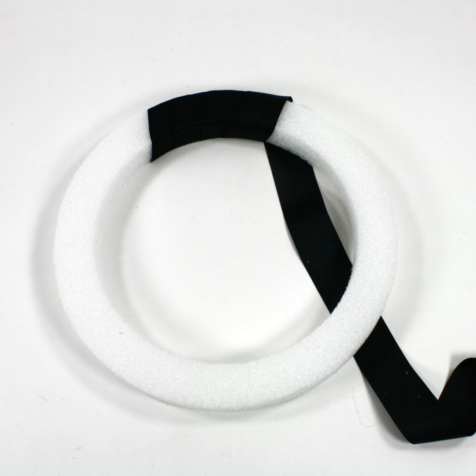 how to make a ribbon wreath with styrofoam