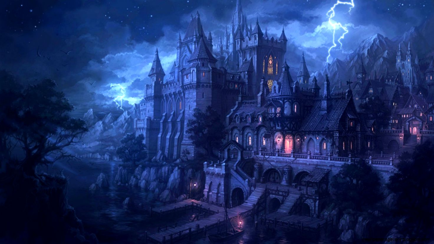 Fantasy Dark Castle Wallpaper