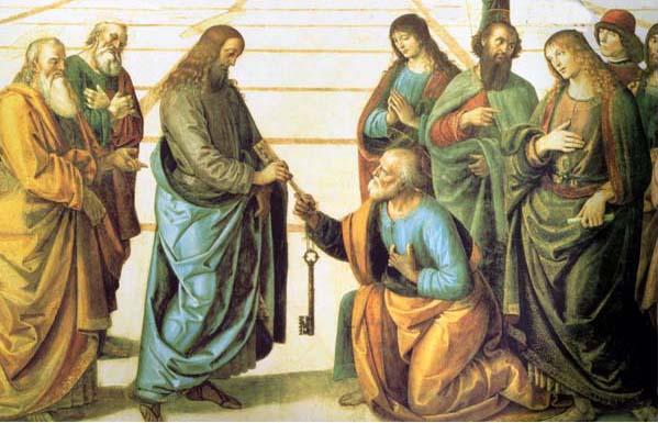 Jesús entrega las llaves a Pedro