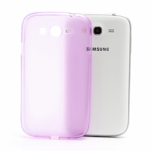 Frosted TPU Jelly Case for Samsung Galaxy Grand I9080 Grand Duos I9082 - Pink Transparent