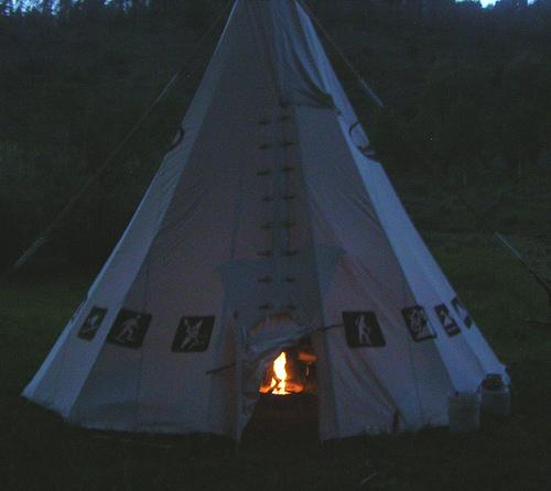 how to make a tipi fire