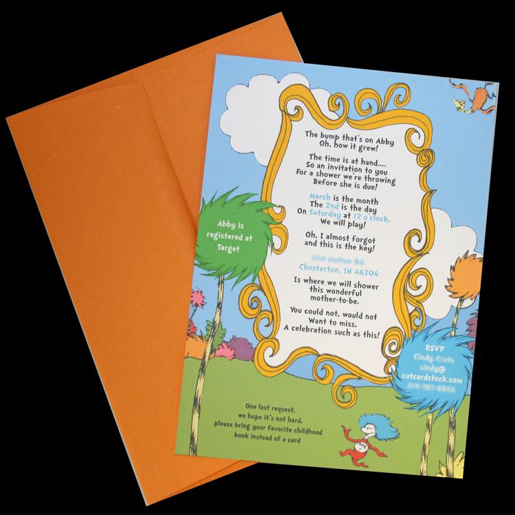 Dr. Seuss Baby Shower Invite – CutCardStock