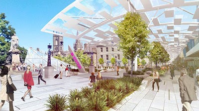 Another view of the fantastic proposals for Union Street  by Halliday Fraser Munro