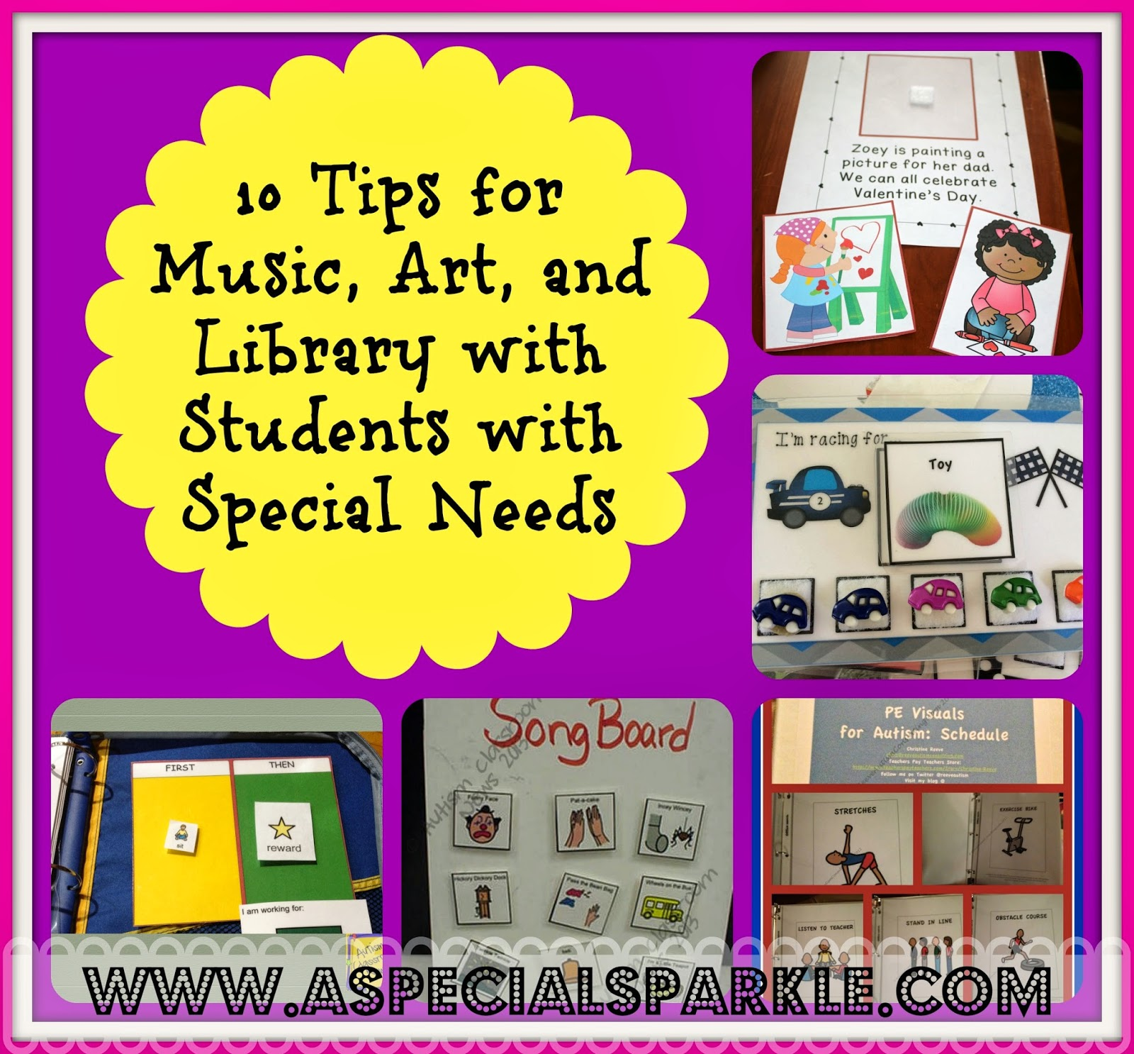 A Special Sparkle 10 Tips for Music Art and Library Specials