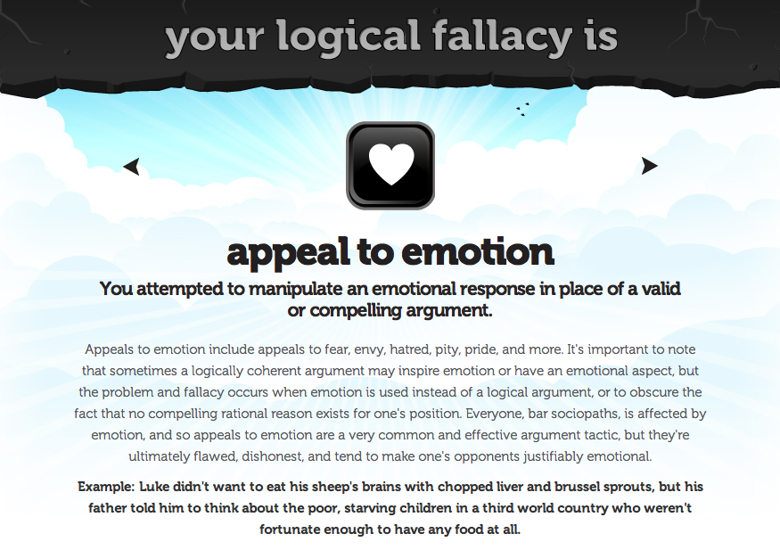 Eville Times Logical Fallacy 3 Appeal To Emotion