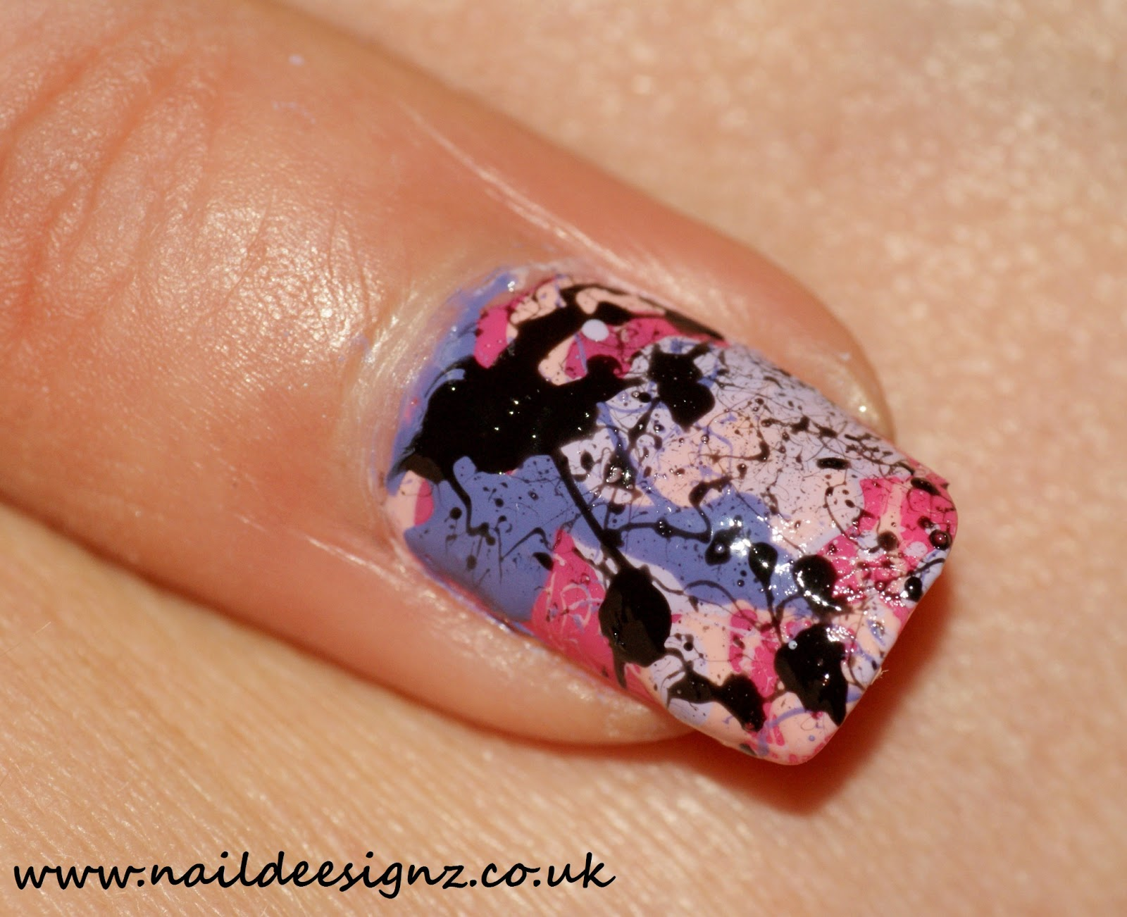 Christines nail designs easy nail designs for short nails splatter nail art prinsesfo Image collections