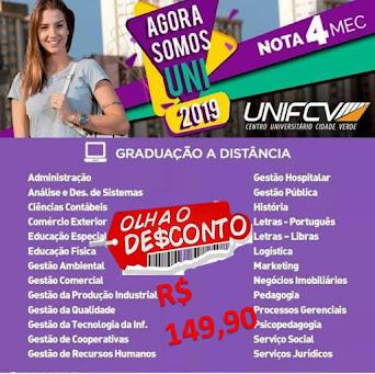 #VEM PRA FCV - Cursos de Graduação e Pós-graduação com preços promocionais