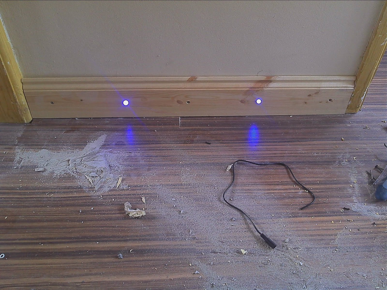 My Projects Automated Hallway Skirtingboard Lighting