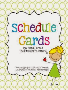 http://www.teacherspayteachers.com/Product/Schedule-Cards-The-First-Grade-Parade-298601
