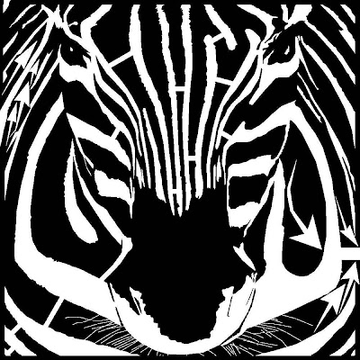 Black And White Zebra Maze