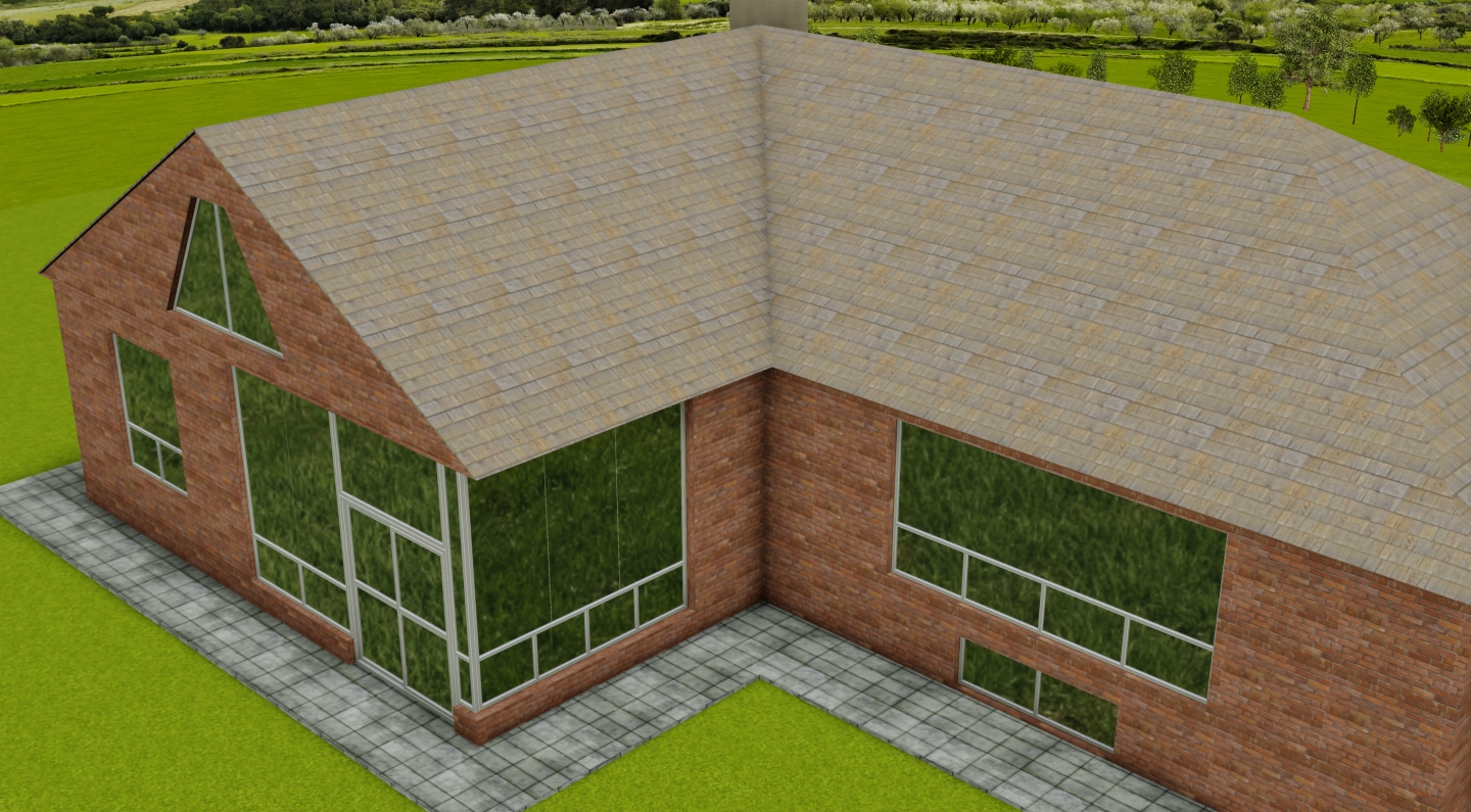 Addition House Revision AutoCAD 3D Model