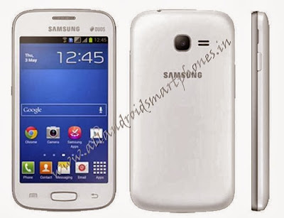Samsung Galaxy Star Pro S7262 Dual Sim Android Phone White Front Back Side Images & Photos Review