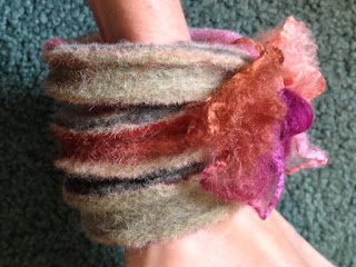habd-felted bangles close-up