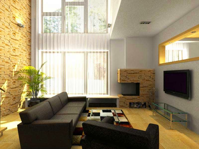 An example of a simple picture of small living room design minimalist