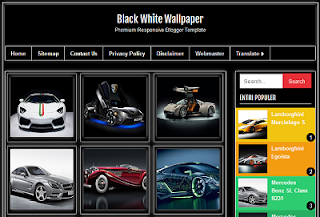 Black White Wallpaper Blogger Template