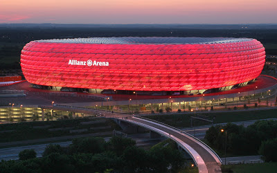 Allianz Arena Football Stadium 2013 Bayern Munich Germany Hd Desktop Wallpaper