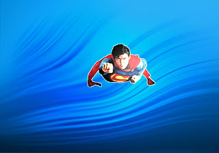 Superman free wallpapers posters Superman Super Sonic Fly in Classic Water Ripple background