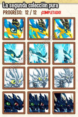 imagen de la segunda coleccion pura de dragon city