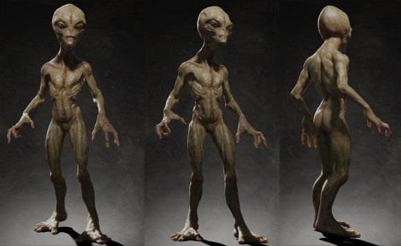 Tsvetomir Georgiev ilustrações artes conceituais e modelos 3D filmes Modelo alien 3D