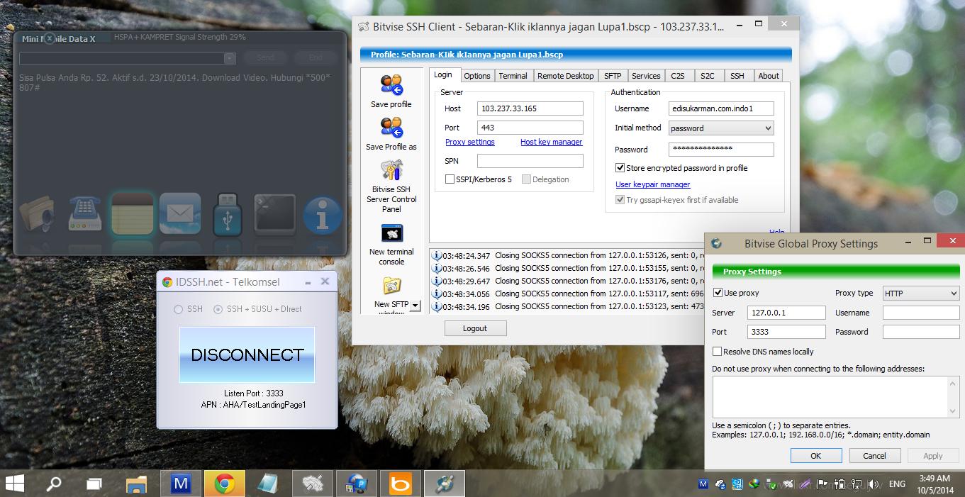 IDSSH.net - Telkomsel + SSH + Ultrasurf + Direct Oktober 2014
