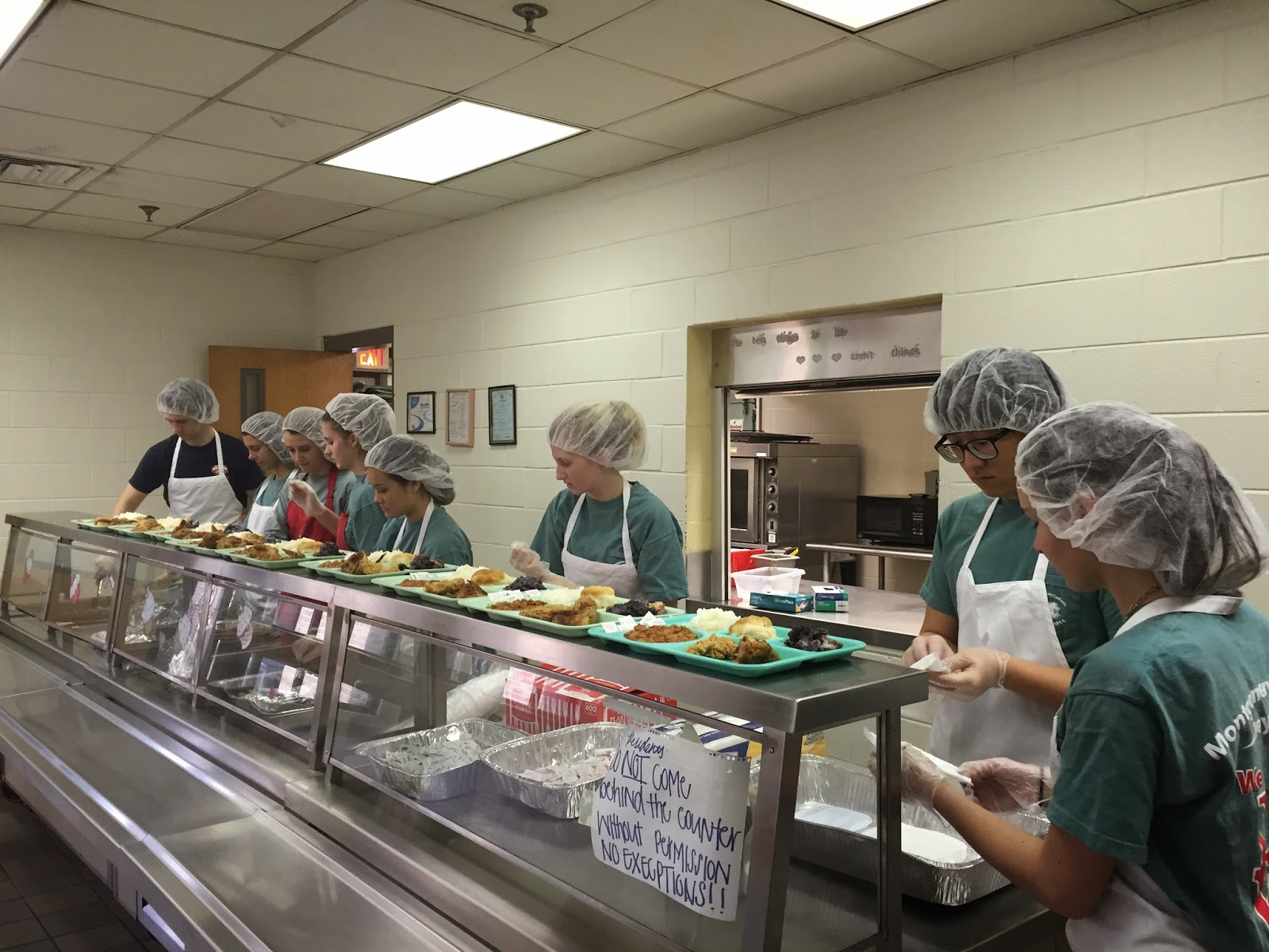 Catholic Key Club Spent Time at the Salvation Army February 15 1